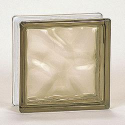 Nubio Glass Block - Gold - 8x8x3